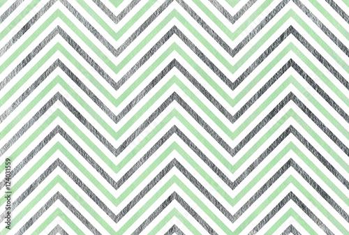 Watercolor stripes background, chevron. - 124031559