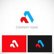 abstract shape triangle company logo