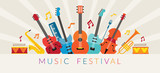 Music Instruments Objects Background, Festival, Event, Live, Concert - 124055730