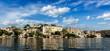 City Palace panorama from the lake. Udaipur, Rajasthan, India