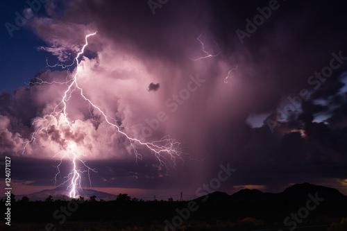 Thunderstorm lightning Poster
