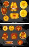 Vector vintage sale labels