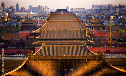 Foto op Canvas Peking Yellow Roofs Forbidden City Beijing China