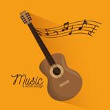 music festival guitar instrument poster vector illustration design