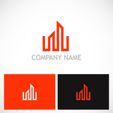 building business line vector logo