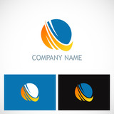 round sphere technology company logo