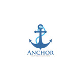 anchor logo icon vector template