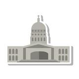 government building of america vector illustration design