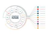 Vector Infographic timeline with Company Milestones