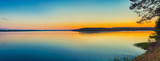 Sunset over the sea. Panorama