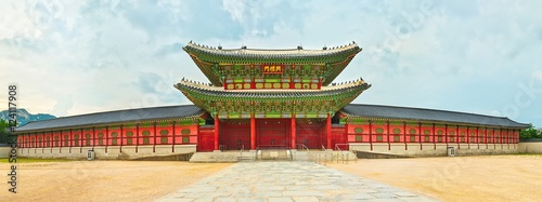 Papiers peints Seoul Gyeongbokgung Palace. South Korea. Panorama