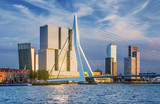 Rotterdam Skyline at Sunset, The Netherlands