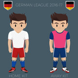 Hamburg Soccer Club Kits 2016/17 Bundesliga