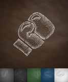 boxing glove icon. Hand drawn vector illustration
