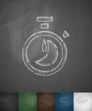 timer icon. Hand drawn vector illustration