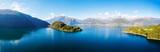 Penisola e baia di Piona - Lago di Como (IT) - Vista aerea verso sud