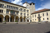The square of the cathedral of Belluno, Veneto, Italy - 124142950