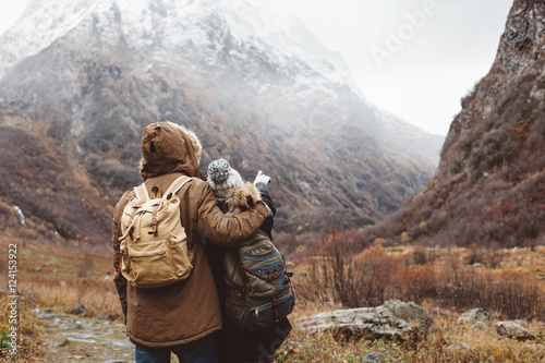 Papiers peints Cappuccino Traveling in mountains