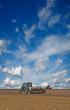 Постер, плакат: Tractors in the field