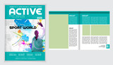 Brochure template, Cover for business, Vector