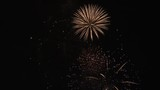 Large firework display finale in 4K.