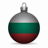 bulgaria flag christmas ball vector