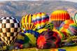 Colorful Hot Air Balloons Inflating
