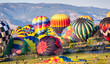 Hot Air Balloons Prepare for Lift-Off