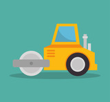 steamroller construction icon design vector illustration eps 10