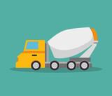 mixer truck construction icon design vector illustration eps 10