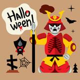 Vector Halloween Zombie Cartoon Illustration.