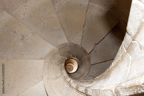 Spiral Staircase in Convent of Christ - Tomar - Portugal Poster