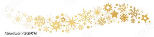 Weihnachtliche Dekoration goldener Sternenschweif - 124209796