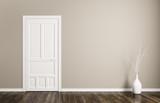 Interior background with door 3d rendering - 124210793