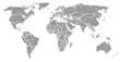 Schwarze Weltkarte mit Ländergrenzen