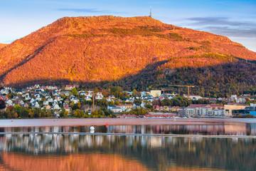 Mt. Ulriken at sunset, Bergen Norway
