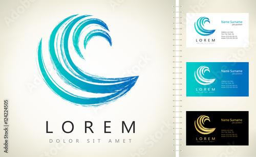 Wave vector symbol. Business Icon.