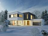 Haus Kubus Winter 1 - 124226942