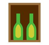 Wine box vector illustration.