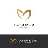 gold leaf abstract logo
