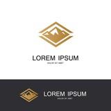 square mountain icon logo