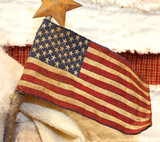 American flag fabric with wooden stick