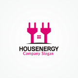 House Plug Design Illustration
