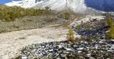 Aerial 4k - paesaggio alpino autunnale