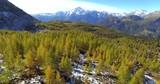 Aerial 4k - Valmalenco (IT) - Vista aerea panoramica autunnale verso il Monte Disgrazia