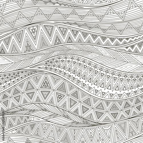 obraz lub plakat vector tribal complex geometric seamless pattern