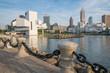 Cleveland Ohio Skyline from Harbor Walkway