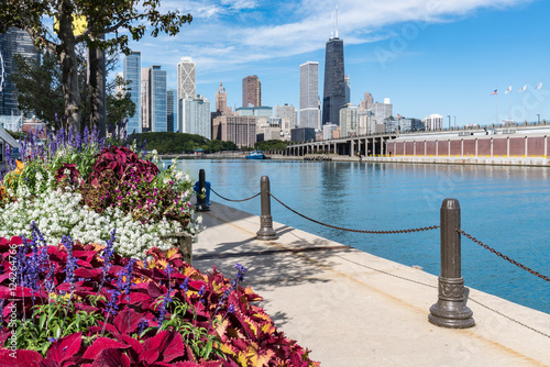 Tuinposter Chicago Along the Chicago Pier