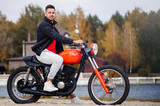 fashionable guy on the bike