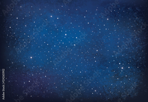 Vector night starry sky background. - 124265902